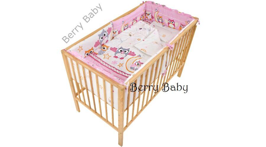 AKCIÓS  Rózsaszín nagy baglyos babaágynemű szett (bővíthető ... 915597c5cd