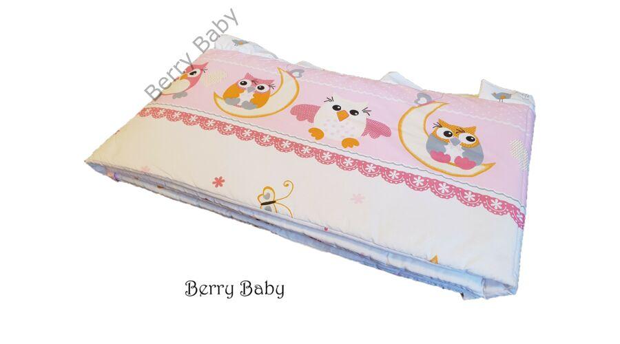 Az ágynemű szett fejvédője · AKCIÓS  Rózsaszín nagy baglyos babaágynemű ... 16002d5a30