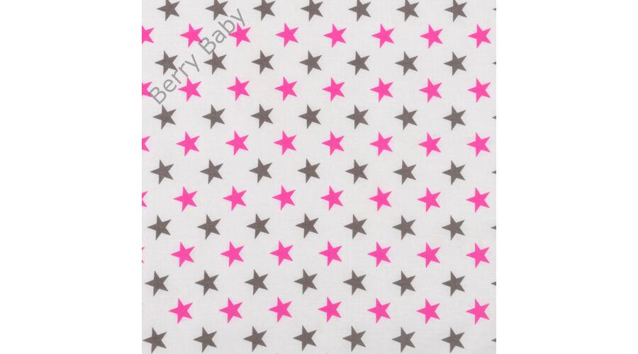 Selymes rózsaszín színű minky+ pink-szürke csillagos babaágynemű ... b6162f6cc2