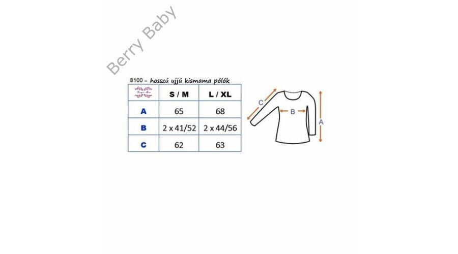 1b17f99b2a Méret táblázat. Hosszú ujjú kismama felső: S/M Pink +választható LÁB  LENYOMAT ÉS FELIRAT