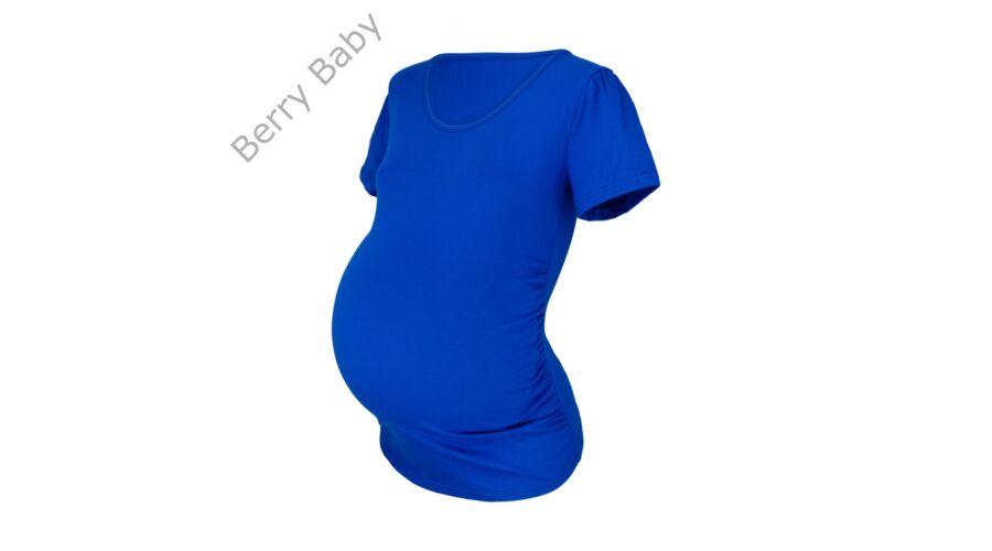 4fd0d4eb43 Rövid ujjú kismama póló: S/M Királykék +választható LÁB LENYOMAT ÉS FELIRAT