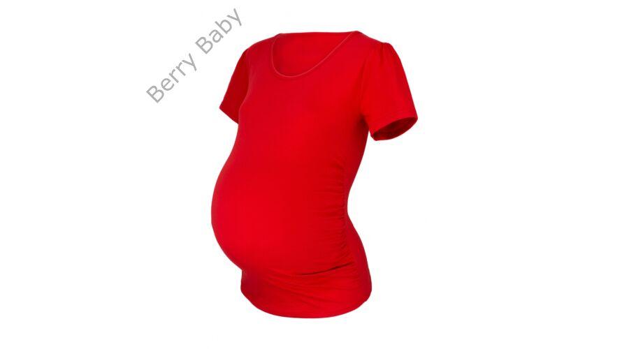 aaf9e838a7 Rövid ujjú kismama póló: S/M piros +választható LÁB LENYOMAT ÉS FELIRAT