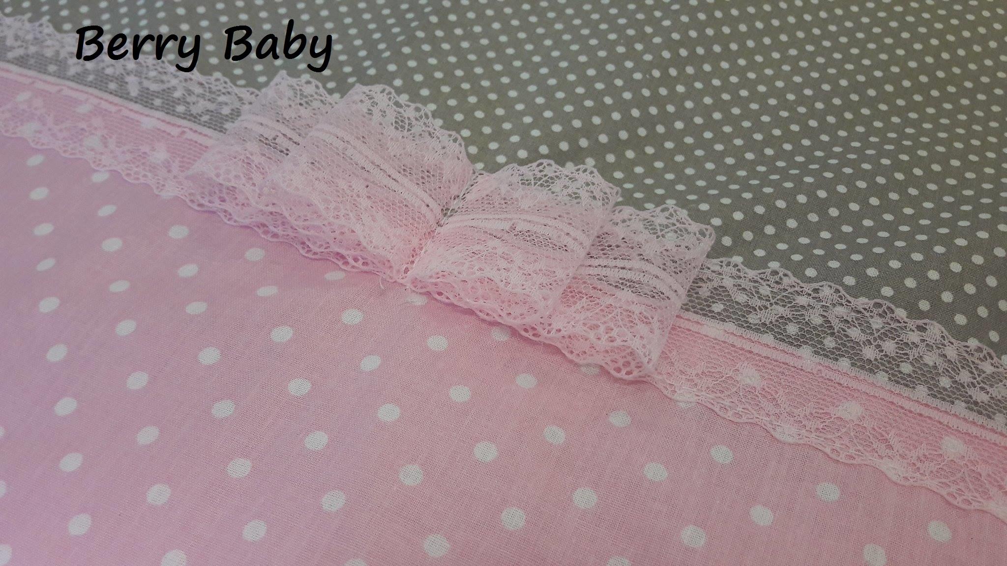 3 részes ágynemű szett (bővíthető)  Rózsaszín pöttyös+szürke apró pöttyös -  Lányoknak- babaágynemű szett 92dd23f1c3
